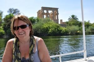 ASWAN Philae-eiland, naar Isis tempel