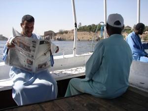 ASWAN dagelijks beeld op weg naar Nubische dorp