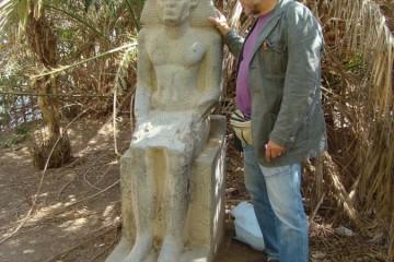 ASWAN faraobeeld op Elephantine-eiland