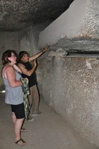 CAIRO piramidegebied van Gizeh, graftombe