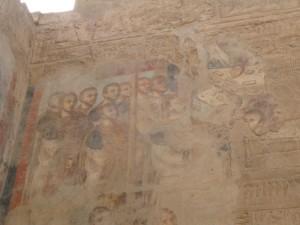 LUXOR Amon-min tempel, christelijk fresco (Romeinse tijd)