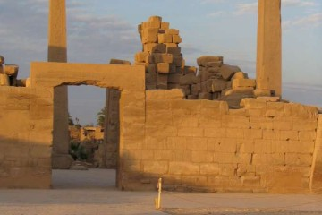 LUXOR Karnak, Amon tempelcomplex zonsondergang