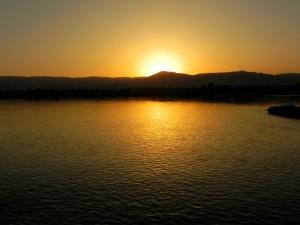 LUXOR zonsondergang vanaf Nijlcruise