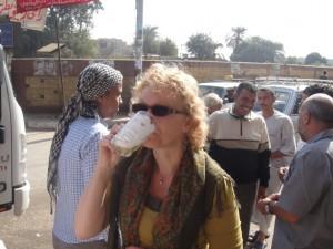 MIDDEN EGYPTE suikerrietsap onderweg