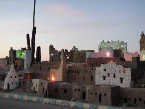 OASE EL-BAHARIYA maquette stad Bawiti