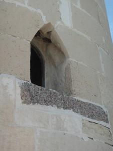 ALEXANDRIE Fort van Qaitbay, oude steen van Pharos hergebruikt