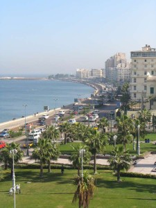 ALEXANDRIE uitzicht op de Middellandse Zee