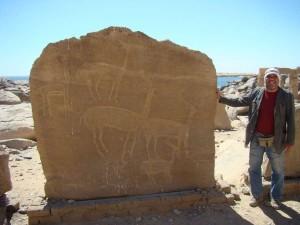 ASWAN prehistorische tekeningen nieuwe Kalabsha