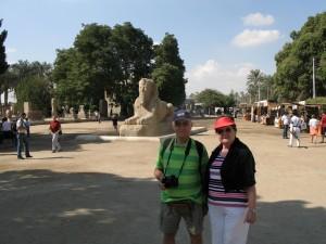 CAIRO oude stad Memphis, de albaster sfinx