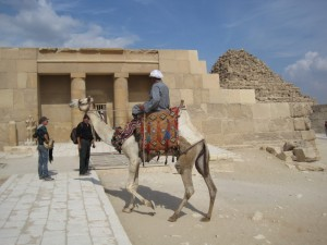 CAIRO piramidegebied van Gizeh, kleine kapel