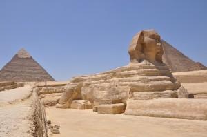 CAIRO piramidegebied van Gizeh met Sfinx