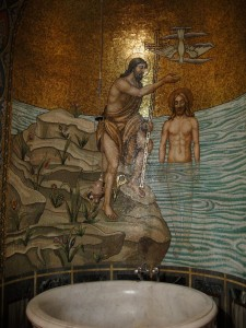 Koptische kerk, de doop kamer