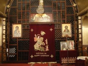 Koptische kerk van binnen