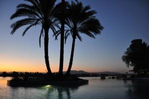LUXOR zonsondergang vanaf Jolie Ville
