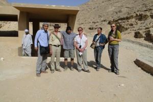 MIDDEN EGYPTE Achetaton (Amarna), voor de graftombe van Achnaton