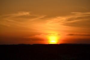 WESTELIJKE WOESTIJN zonsondergang